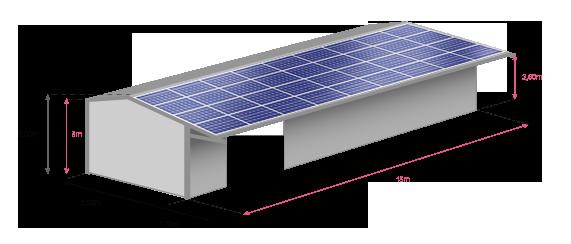 Bâtiment solaire photovoltaique